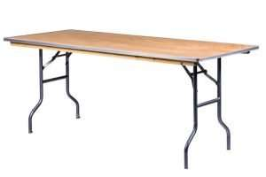 6 ft. Rectangular Table - Wooden