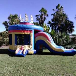 Birthday Cake Bounce House w/ Water Slide