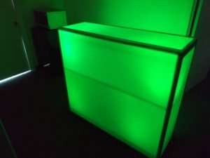 green led bar stand