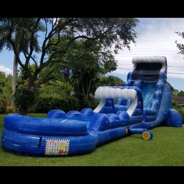 large wavey water slide rentals