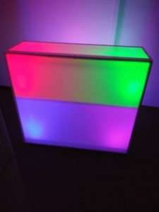 multi color led bar stand