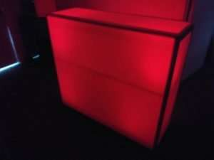 red led bar stand