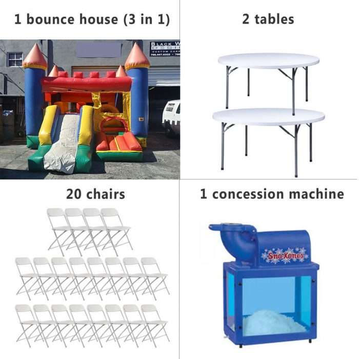 Miami party rentals package 4