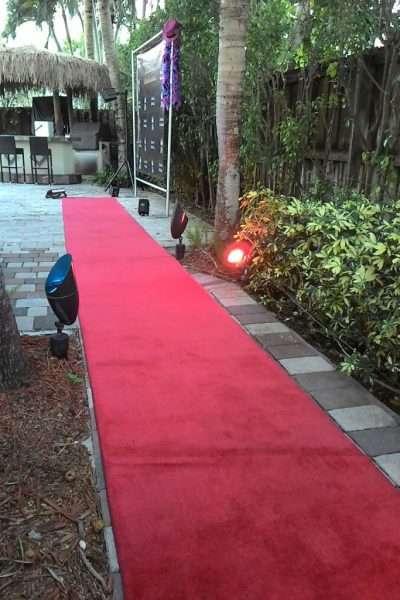red carpet rentals in Miami,FL