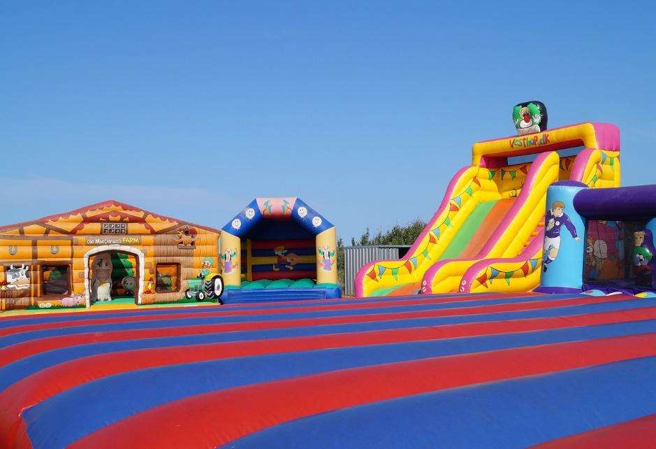 commercial bounce houses offer more durability and stability