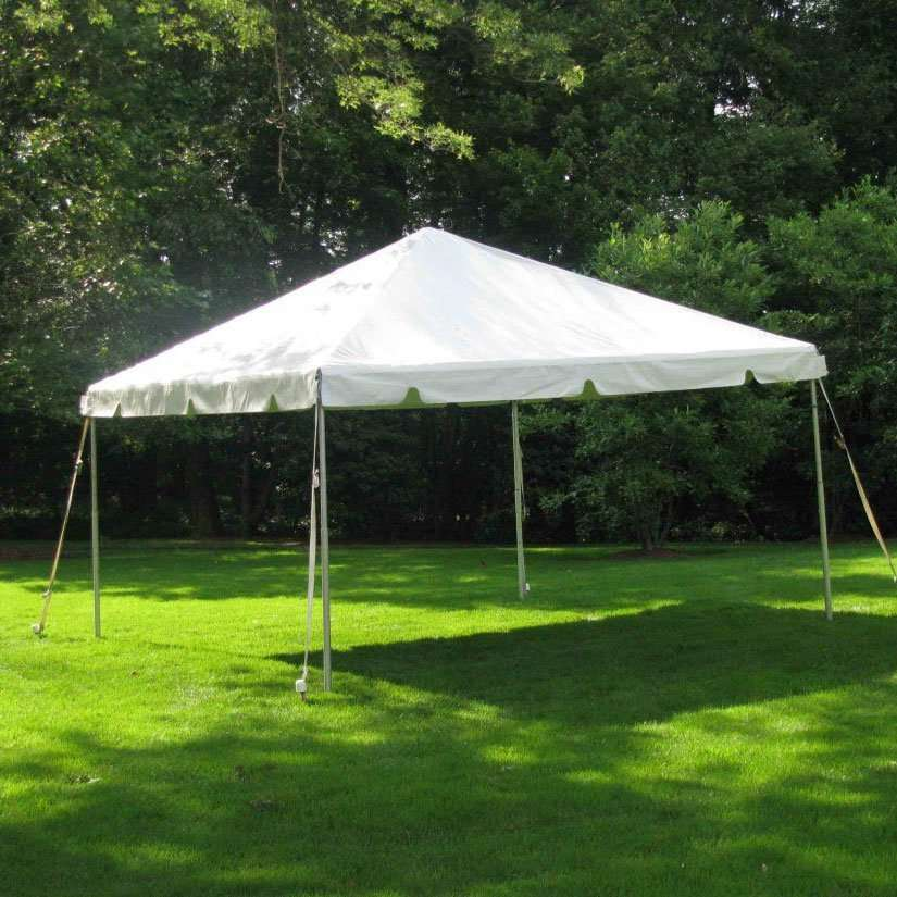 24 Hours Party Rental Pole tent 10x10