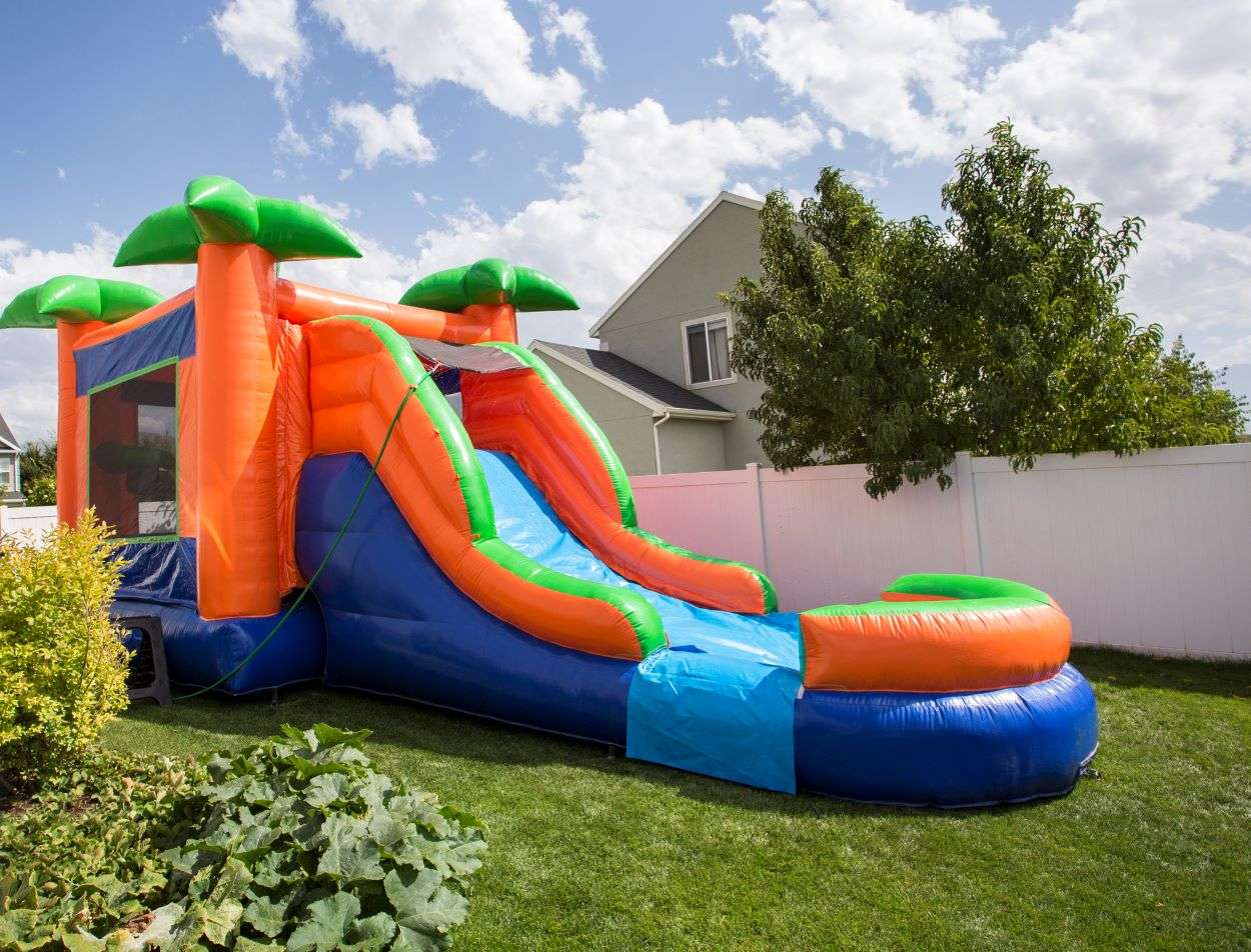 hire water slide rental Miami combo