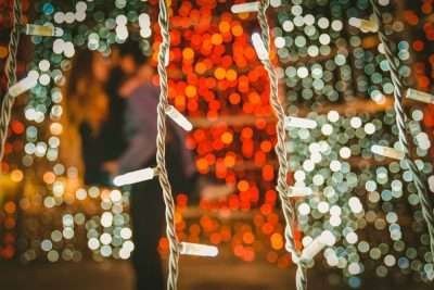 Miami Party Rentals planning a party with string lights