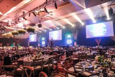 Party Rentals in Miami hosting a Gala