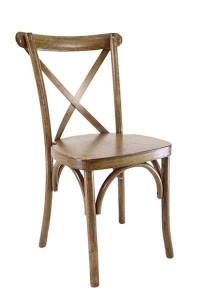 Party Rentals in Miami wooden cross back chairs