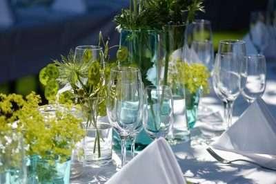 Garden party white linens