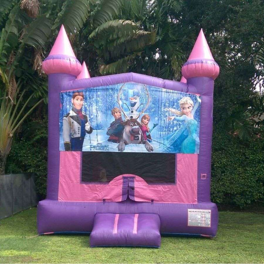 frozen-bounce-house from 24 Hours Party Rental Miami