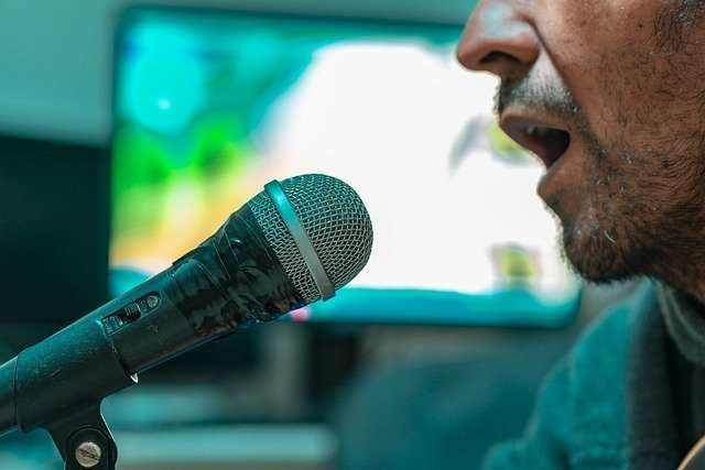 karaoke machine microphone