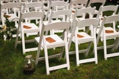 white wood folding chair rentals