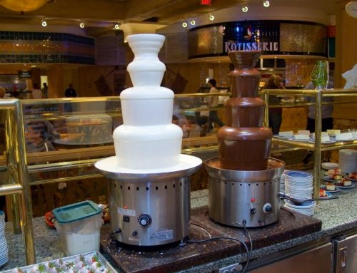 Enhance your Event with a Beautiful Chocolate Fondue Fountain Rental!