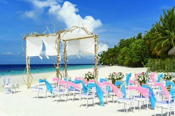 destination wedding at a beach