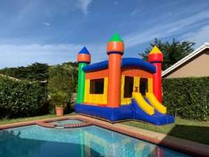 Multi color inflatable castle rental