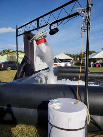 Foam machine rentals with pit