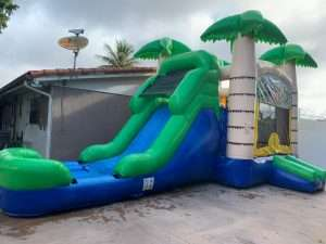 Palms big bounce house with slide