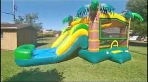 Palms small bounce house with slide