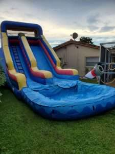 22 ft Water Slide Tri color with detachable pool